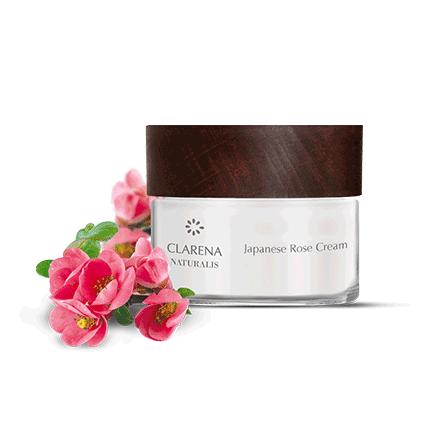 100% wegański, naturalny krem do twarzy z różą japońską dla cery dojrzałej i wrażliwej